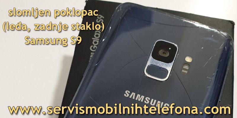 zamena poklopca, zadnjeg stakla na Samsung S9