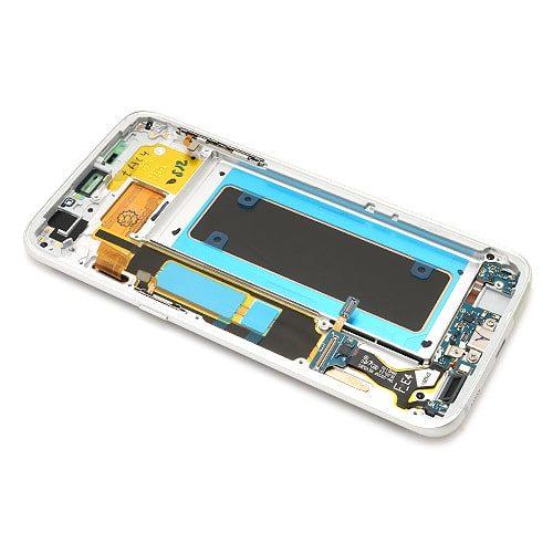 Samsung Galaxy S7 (G935) Edge LCD + touchscreen + frame srebrni Full ORG - Doktor Mobil servis mobilnih telefona