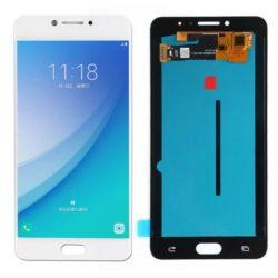 Samsung Galaxy C7 Pro (C7010) LCD + touchscreen beli FULL ORIGINAL - Doktor Mobil