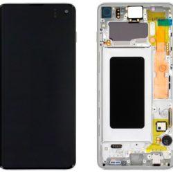 Samsung Galaxy S10 (G973F) LCD display beli - Doktor Mobil