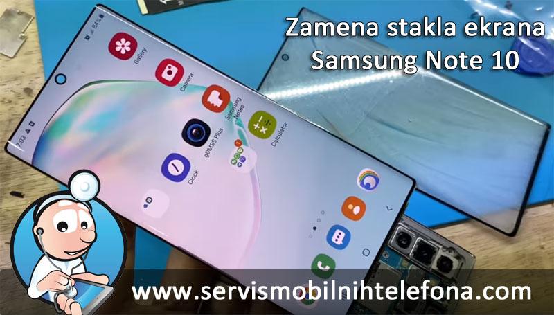 Samsung Note 10 zamena stakla ekrana