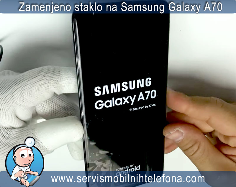samsung a70 zamenjeno staklo ekrana