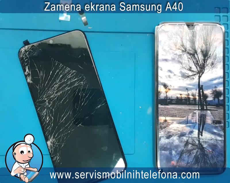 zamena ekrana Samsung A40
