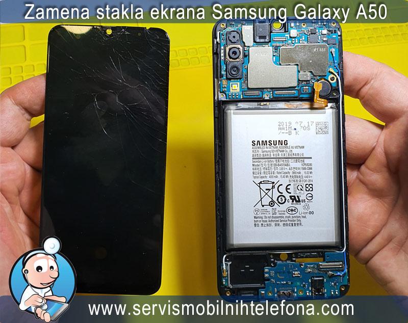 Zamena stakla ekrana Samsung A50