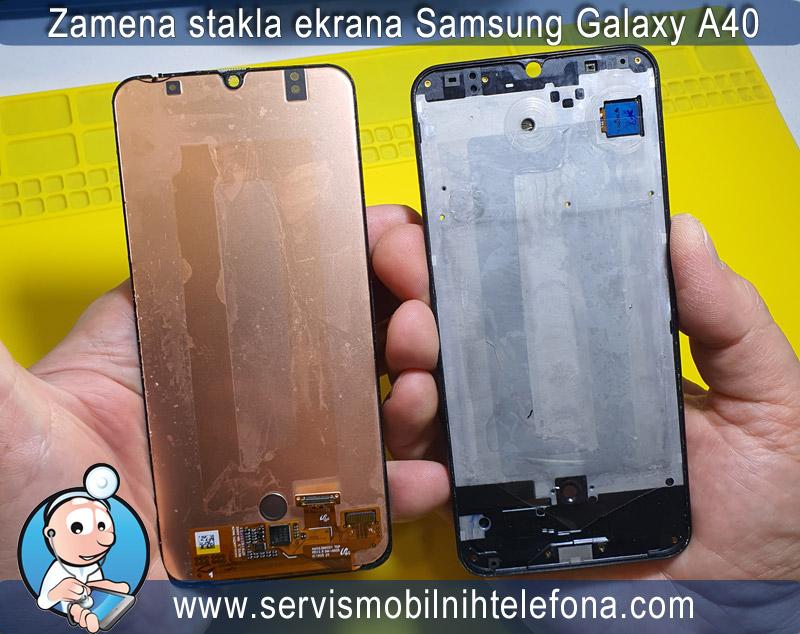 zamena stakla ekrana Samsung A40