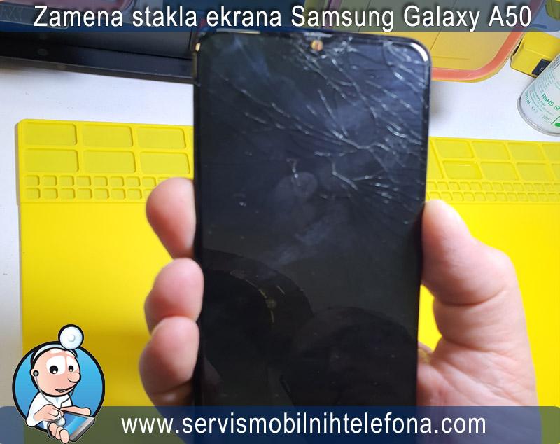 slomljeno staklo na Samsung A50