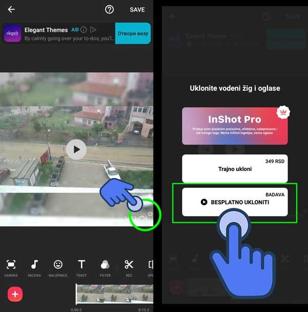 inshot video editor za android