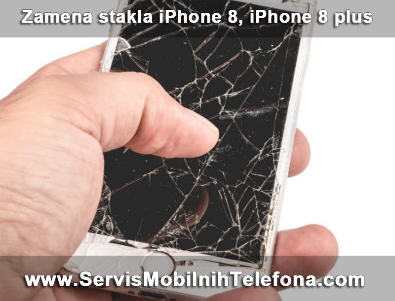 zamena stakla iPhone 8, iPhone 8 plus