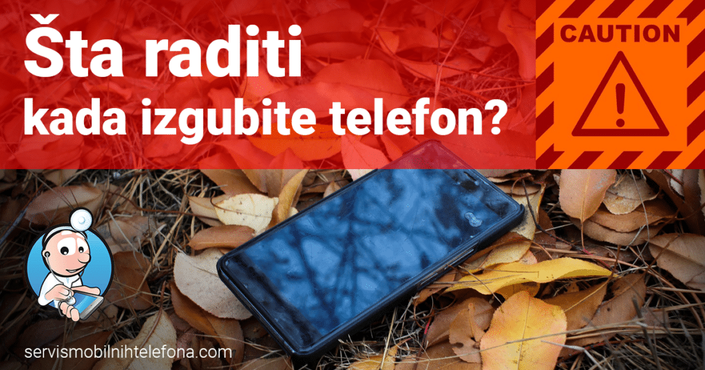 izgubljen ukraden telefon
