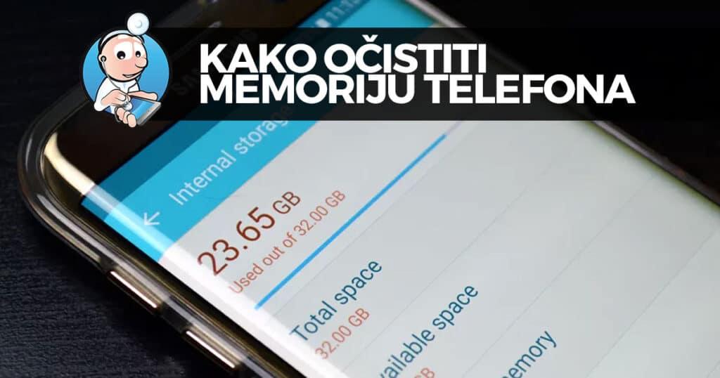 kako očistiti memoriju telefona