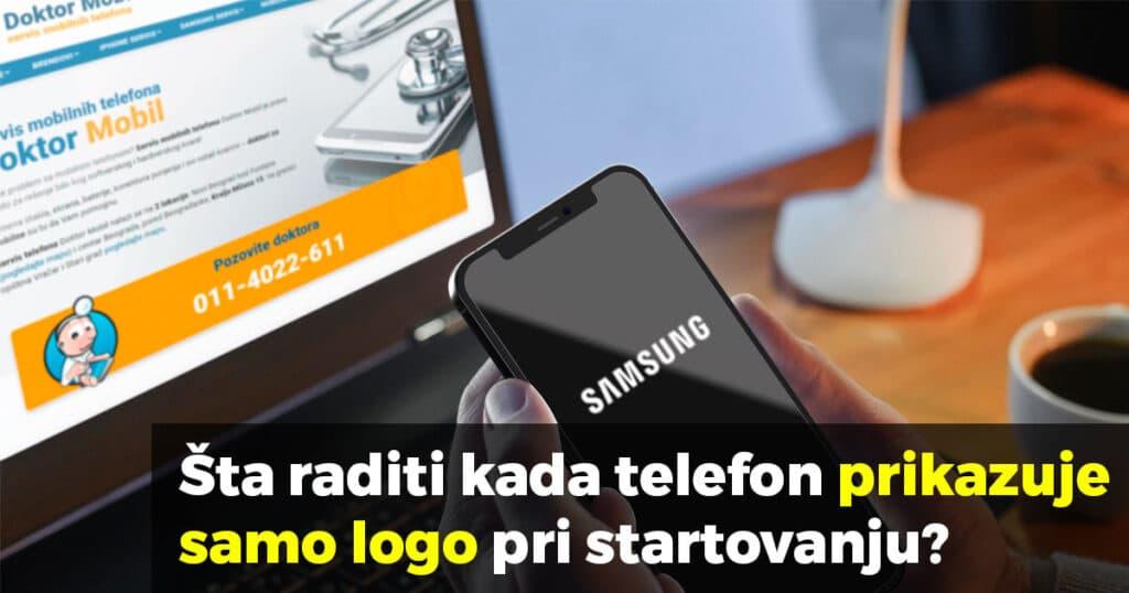 telefon prikazuje samo logo