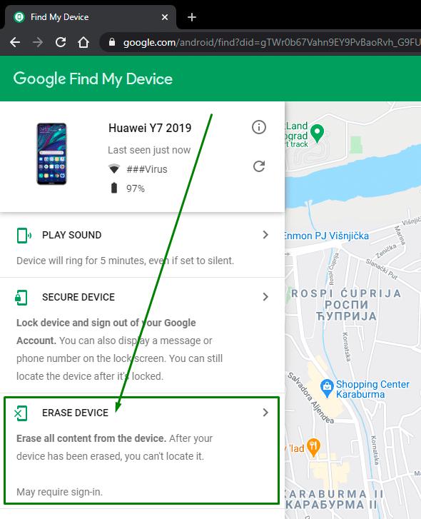 lociranje telefona preko google naloga